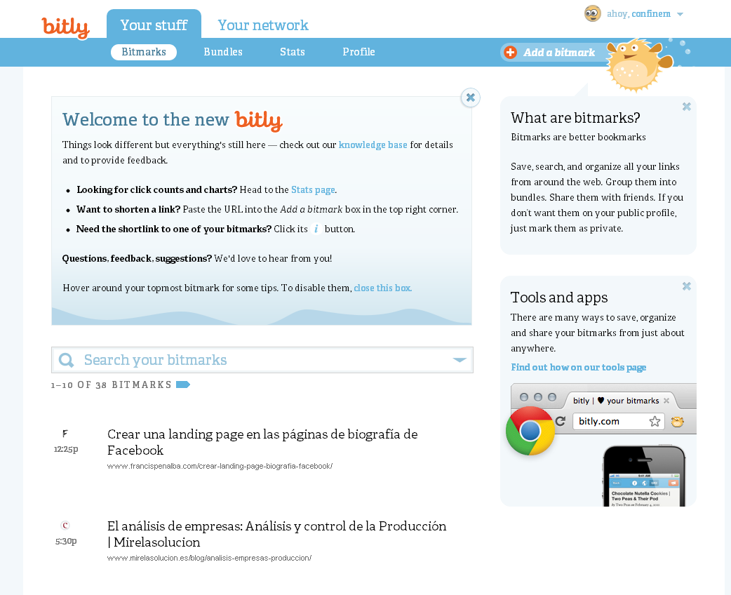 cambios bitly