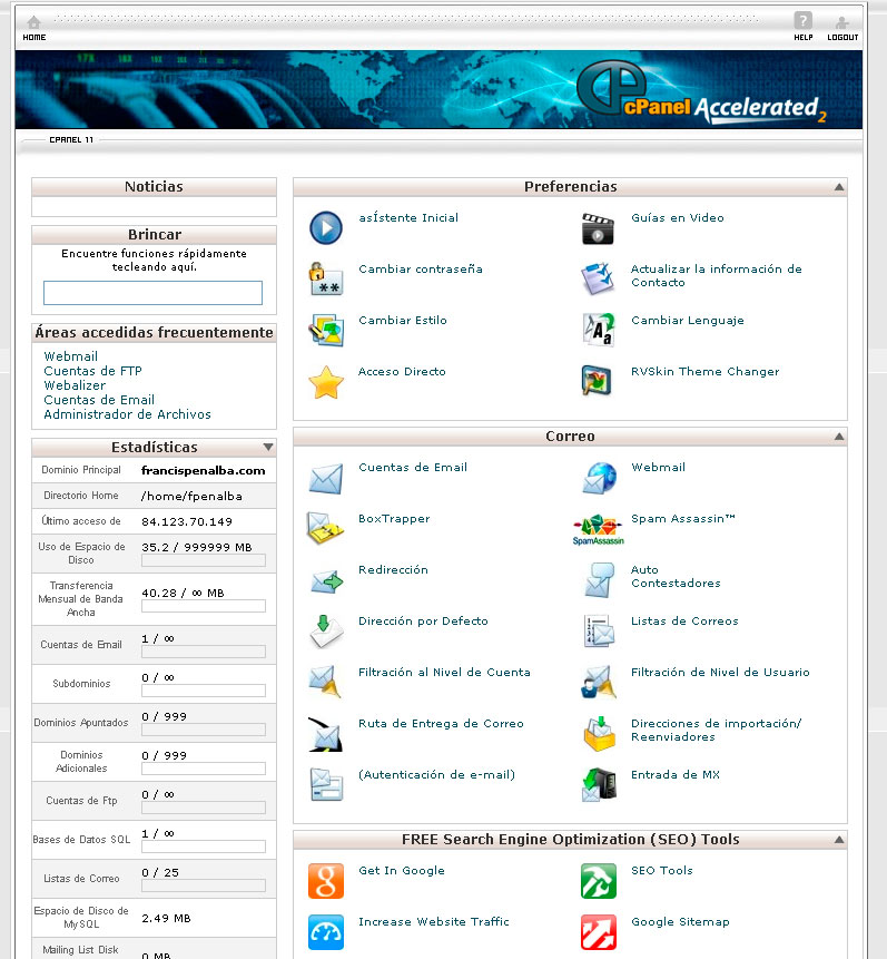 wordpress cpanel hostgator